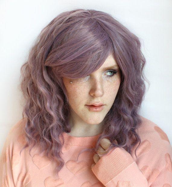 Perruque violet pastel Long cheveux ondulés de par MissVioletLace