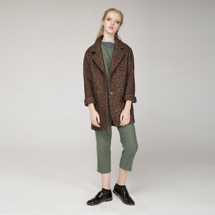 УКОРОЧЕННОЕ ПАЛЬТО «COLD HEART» CHOCOLATE нежный образ, уют и тепло в холодную погоду, удобные кармашки, универсальность и комфорт. Состав: 60% шерсть, 40% вискоза  Подкладка: 30% вискоза, 70% полиэстер #украина #сестры-дизайнеры #платье-рубашка #классика #бренд #свободный крой #красота #Fashion #style #beauty   #пальто #клетка #осень #мода# #стиль #хлопок #umm  # #мода #baby doll #бежевый #женская одежда #coat #brown #шоколад #шоколадное