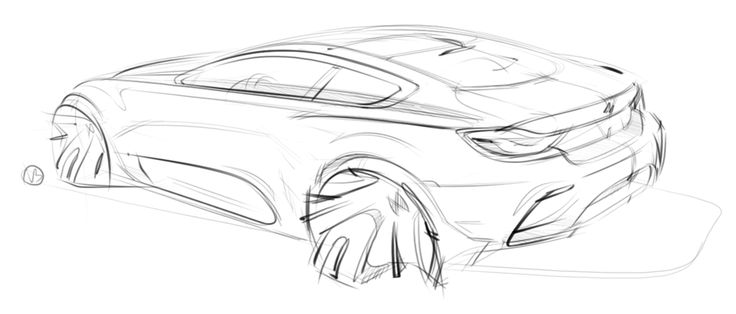 BMW 4er design sketch by Vladimir Budkov
