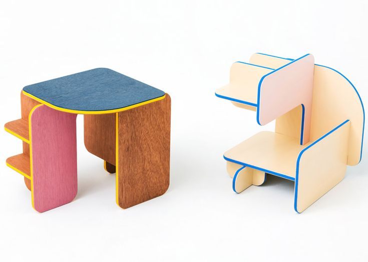 Torafu Architects, Dice, multi-purpose furniture that can be used in three different ways depending on which way up it's facing.