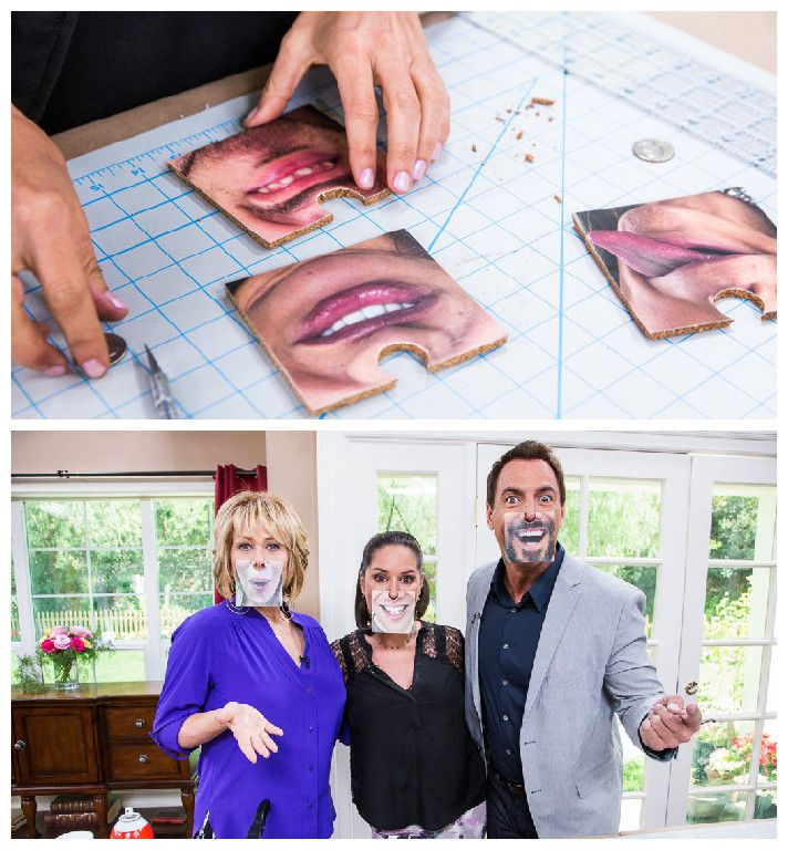 @tmemme28 creates funny Face Coasters! Catch #homeandfamily weekdays at 10/9c on Hallmark Channel!