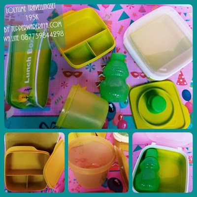 Tupperware Promo LolyLime Travelling Set