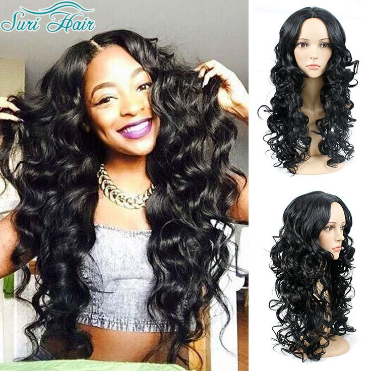 Top Quality Long Black Curly Wigs For Black Women Afro Curly Synthetic Wig Cheap Wigs For Women Black Wig Cosplay Peruke Pelucas //Price: $32.34 & FREE Shipping //     #hairextension #style #beauty #woman #love