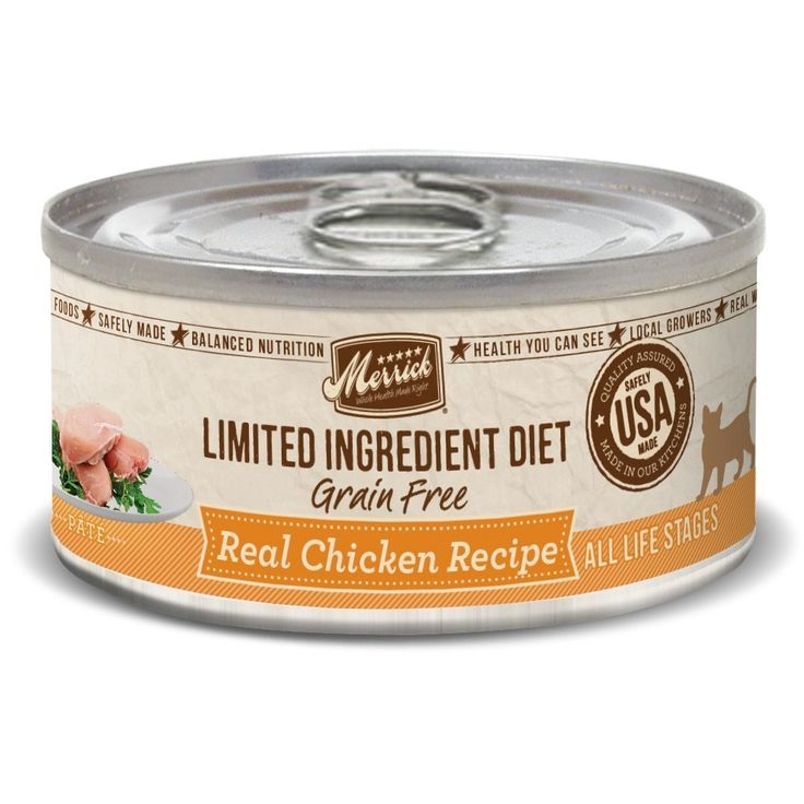 Merrick 24 Count Limited Ingredient Diet Real Chicken Recipe Canned Cat Food -- Stop everything and read more details here! : Cat food