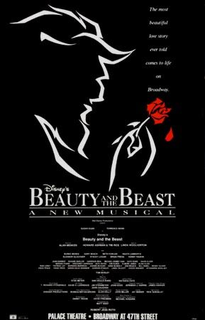 Beauty and the Beast the Musical  Broadway Poster (Original Production)