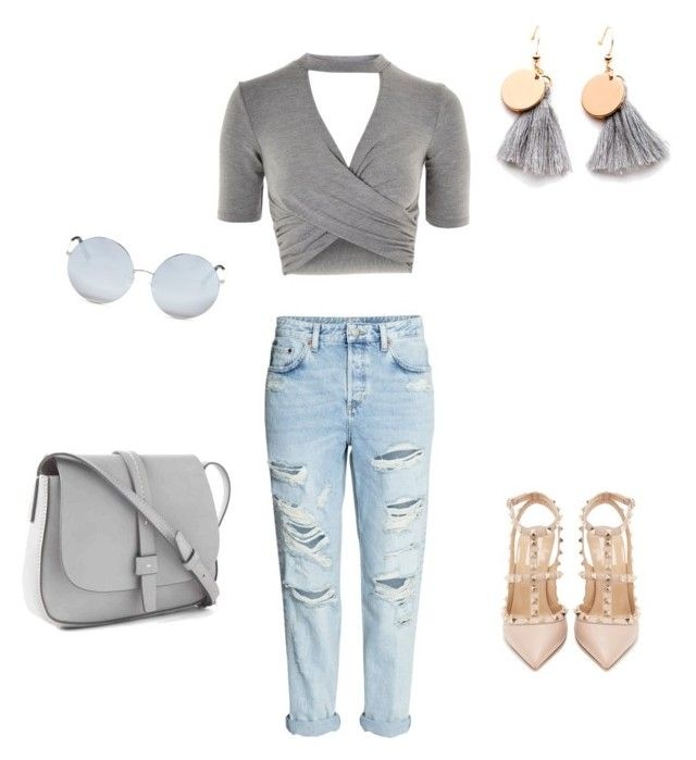 """""""Untitled #28"""" by sarii-syafitri on Polyvore featuring Topshop, Valentino, H&M, Gap and Matthew Williamson"""