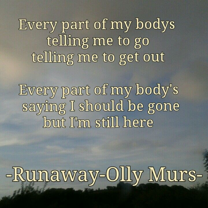 Olly murs runaway song lyric quote from the album Right Place Right Time (RPRT)