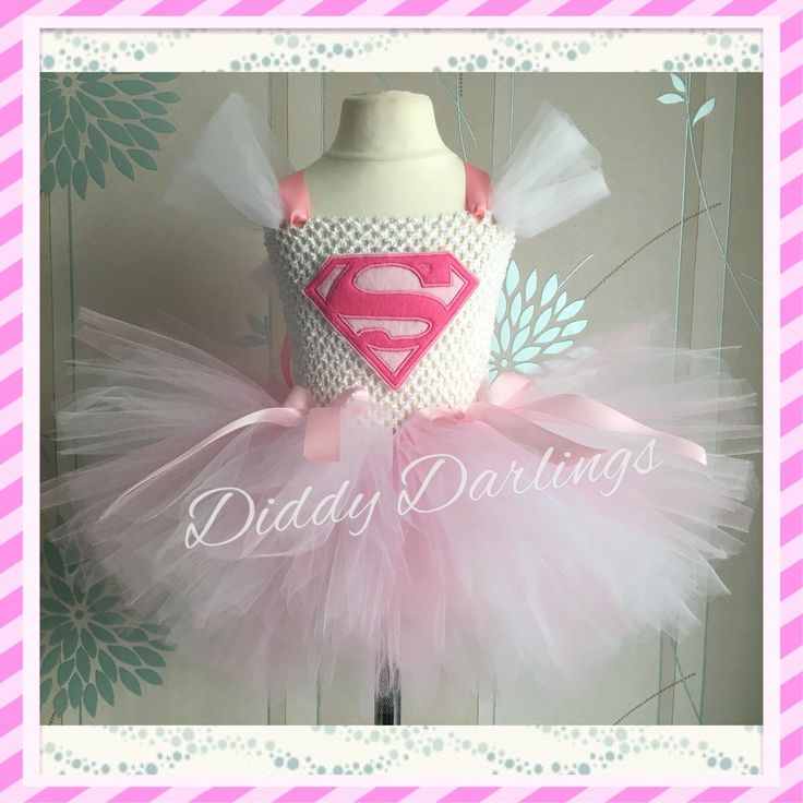 Superman Tutu Dress. Supergirl Tutu Dress. Beautiful & lovingly handmade.  All characters and colours available Price varies on size, starting from £25.  Please message us for more info.  Find us on Facebook www.facebook.com/DiddyDarlings1 or our website www.diddydarlings.co.uk