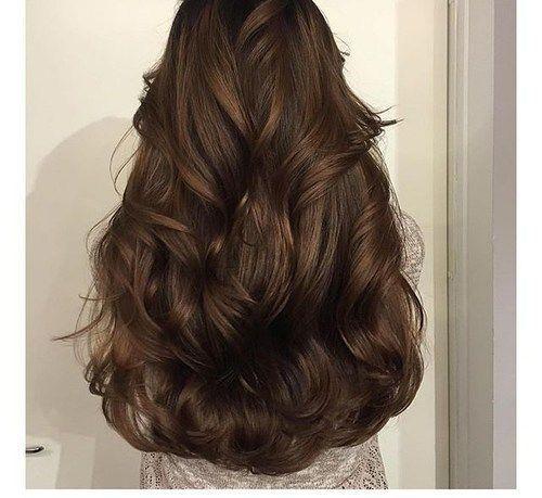 hair, brunette, chocolate brown hair, waves More