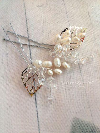 Купить или заказать Свадебные шпильки для прически невесты 'Мия' в интернет-магазине на Ярмарке Мастеров. Лёгкие и воздушные шпилечки универсальны и являются трендом этого сезона.