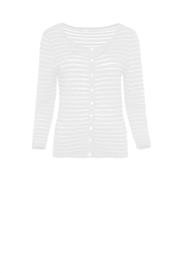 Sanne Nt wit gebreide vest knitted cardigan vest white