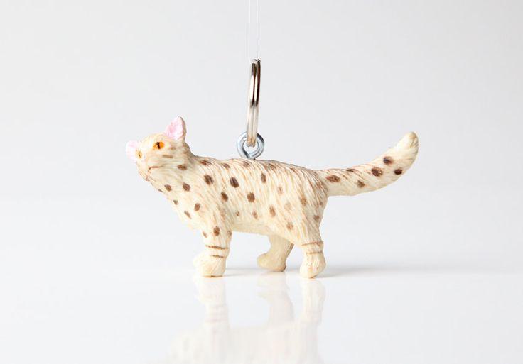 """Schlüsselanhänger """"Katze Ägyptische Mau"""" von blancETSY auf Etsy"""