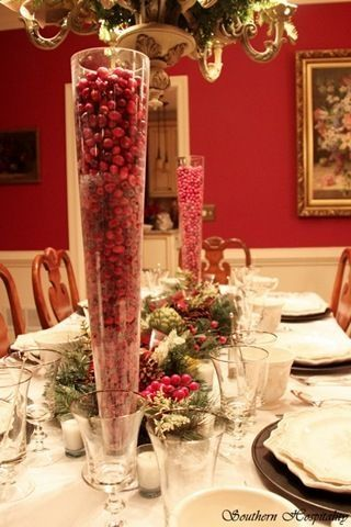 dining room Christmas table night by bettie