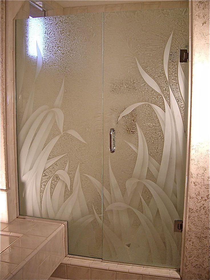 20 best shower doors images on pinterest etched glass glass showers and glass shower doors Bathroom shower designs with price