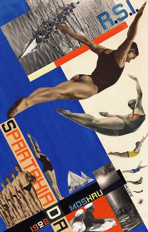 Russian constructivist poster 1928. A great poster to try something dynamic with the photogrpahs you take. Think about your own experiences of swimming competitively.