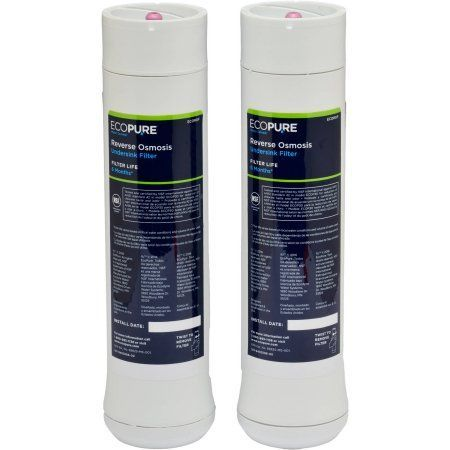 EcoPure Ecorof No Mess Reverse Osmosis Water Filter, NSF Certified, Pre and Post Replacement Water Filter Set (Fits ECOP30 System)