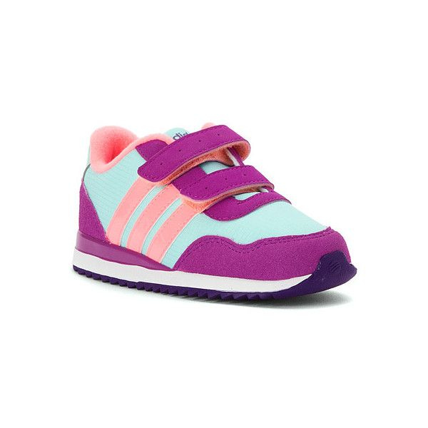 Adidas Kids' Velcro Jogger Sneaker Infant/Toddler Shoes ($26) ❤ liked on Polyvore featuring girls and kids