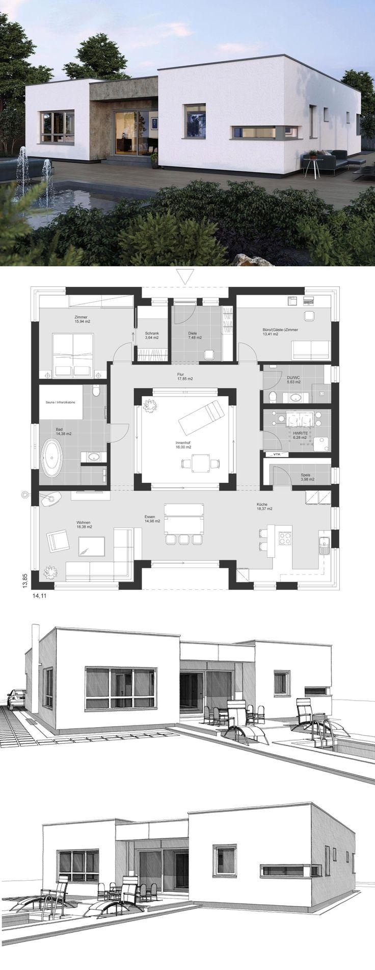 Bungalow Haus Architektur modern im Bauhausstil Gr…