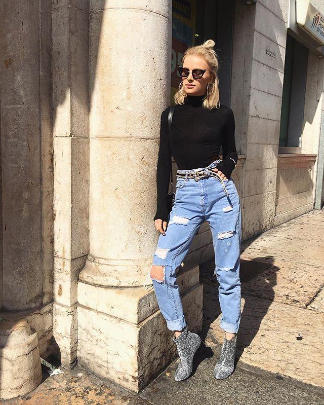 #verona ☀️🔥 #ootd #streetstyle #jeans @reservedbrand #shoes @zara #glasses @miumiu SNAPCHAT MAFFASHION