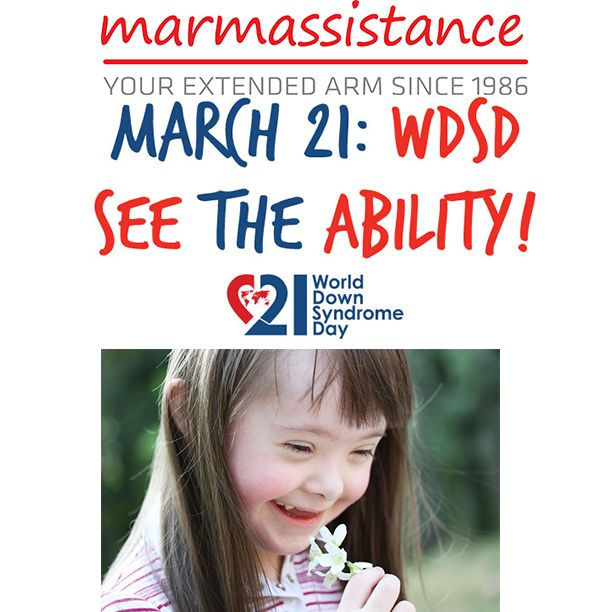 21 March 2015 marks the 10th anniversary of World Down Syndrome Day and each year the voice of people with Down syndrome, and those who live and work with them, grows louder.   You may see all the events from all countries from: https://www.worlddownsyndromeday.org/  As marmassistance family, we hope that the awareness of Down syndrome will raise each passing day.  Down syndrome is a condition or a syndrome, not a disease...