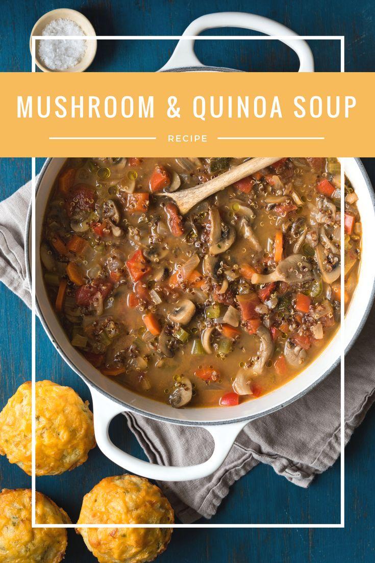 Many Mushroom and Quinoa Soup