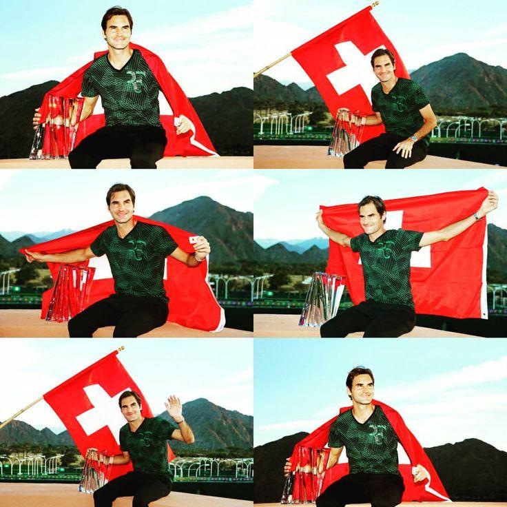 フェデラー、マスターズ1000優勝おめでとう👑  #rogerfederer #federer #indianwells #atptour #masters #1000 #final #winner #champion #tennis #kingoftennis #beautiful