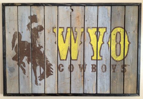 Wyoming Cowboys Painting - Wyoming Pride