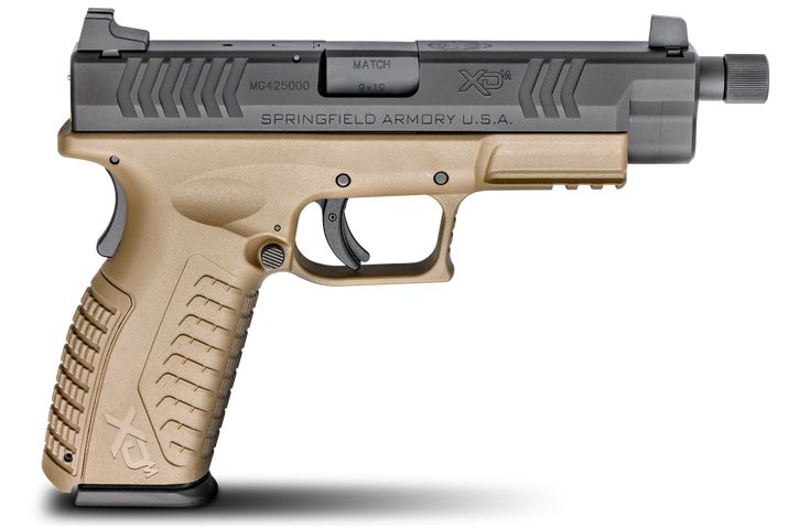Springfield Armory's extended threaded barrel, for the XD(M) is the perfect pistol for those who prefer to shoot with the benefits of a suppressor.