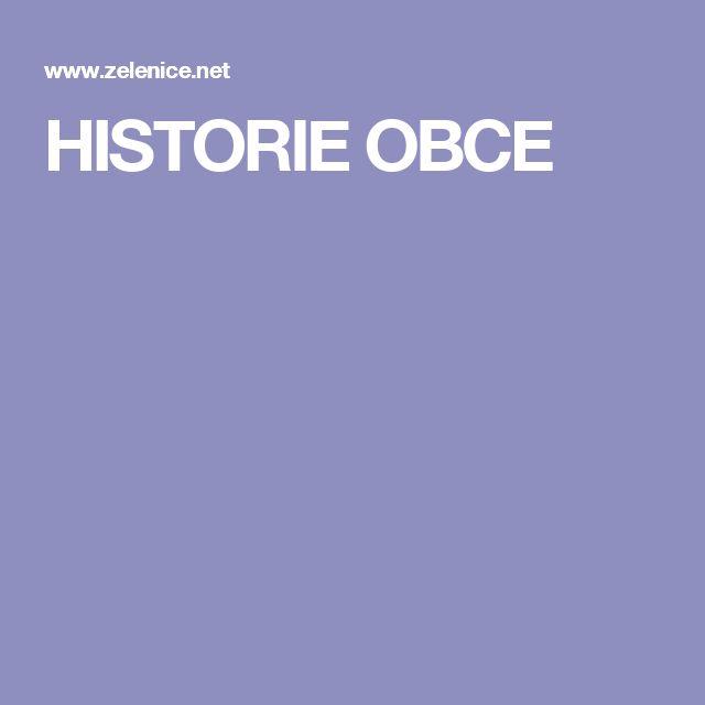 HISTORIE OBCE