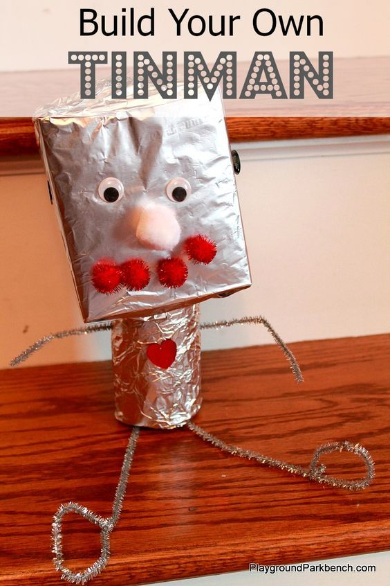 Big M's fascination with the Wizard of Oz continues... today she asked to build a Tinman!