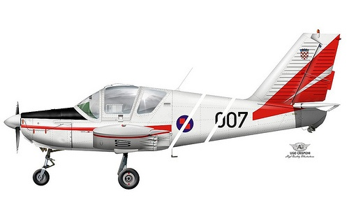 HRZ UTVA-75 LOLA    CROATIAN AIR FORCE  LOLA UTVA-75 basic trainer  s/n 007