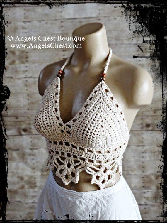 Crochet Pattern Summer Halter Top Crop top by von AngelsChest