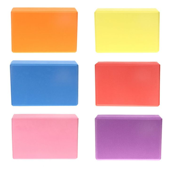 Горячая! EA14 Высокой Плотности Фитнес Йога Блок EVA Йога Блок Бодибилдинг Йога Помогает 5 Цветов