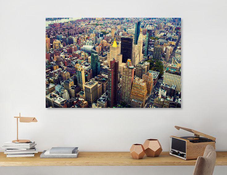 «New York Skyline», Exclusive Edition Canvas Print by haroulita - From 55€ - Curioos  #homedecor #homedeco #homedecorideas #newyork #nyc #manhattan #bigapple #wallart #walldecor #shopping #cityscape #skyline #haroulita