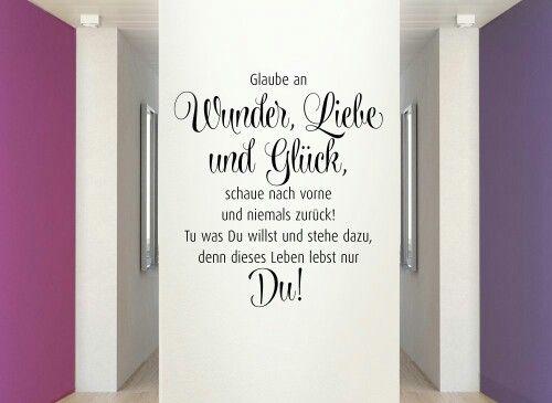 Dekoration Wand Flur : 1000+ images about Sprüche und Zitate on Pinterest