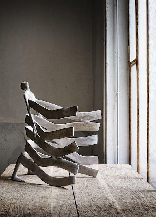 Bord de mer Bronze Sculpture d'Isabel Miramontes