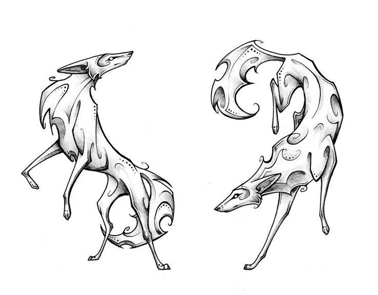 Coyote Pair by Tsairi.deviantart.com on @DeviantArt