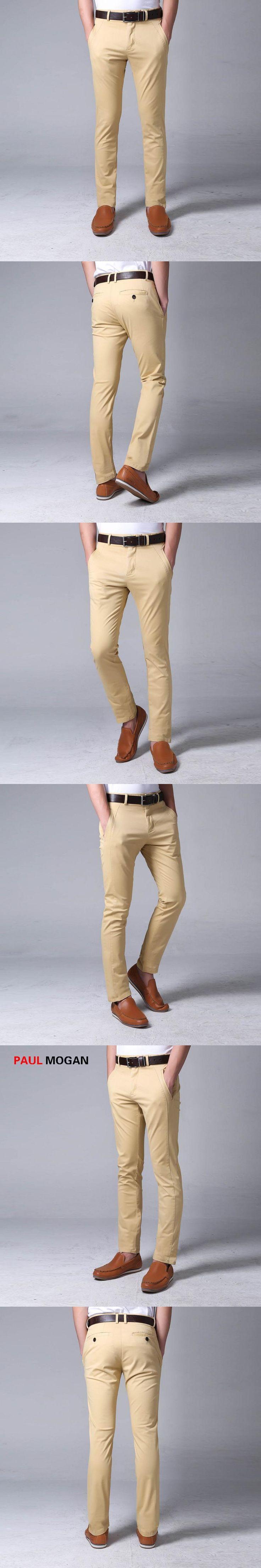 Paul Mogan pants men Apricot fashion high quality men cotton  pants trouser slim fit calca masculina pantalon hombre cargo pants