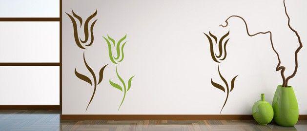 Tulipán na zeď (1398) / Samolepky na zeď, stěnu a nábytek