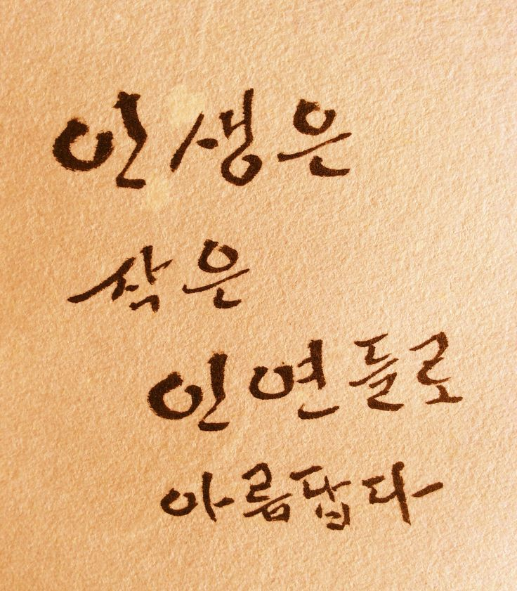 Little connections make our life beautiful, Youngdae Jo, 2015, write with brush fountain pen Text from Prof. Pi
