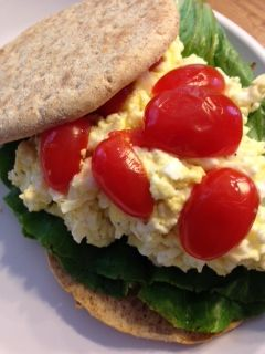 Healthy up this protein packed egg salad with cottage cheese! Click this picture to get the recipe.