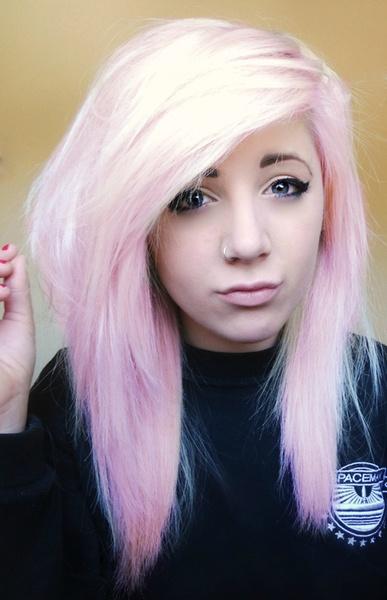 Pastel pink hair*