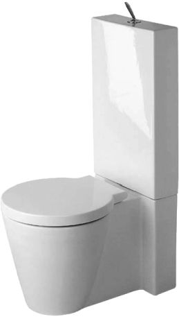 Duravit Starck 1 Toilet close coupled (with or without cistern)