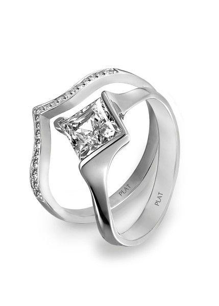 Unique and elegant! #engagement #ring {@platinumguild}