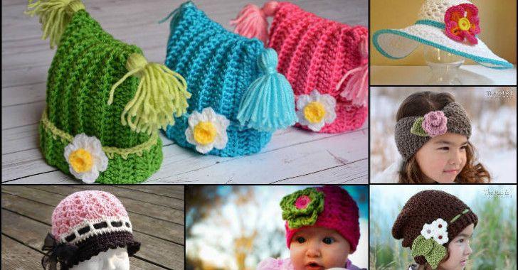 Kız Çocukları İçin Örgü Bere Modelleri – 75 Adet Çiçekli Bere Örnekleri