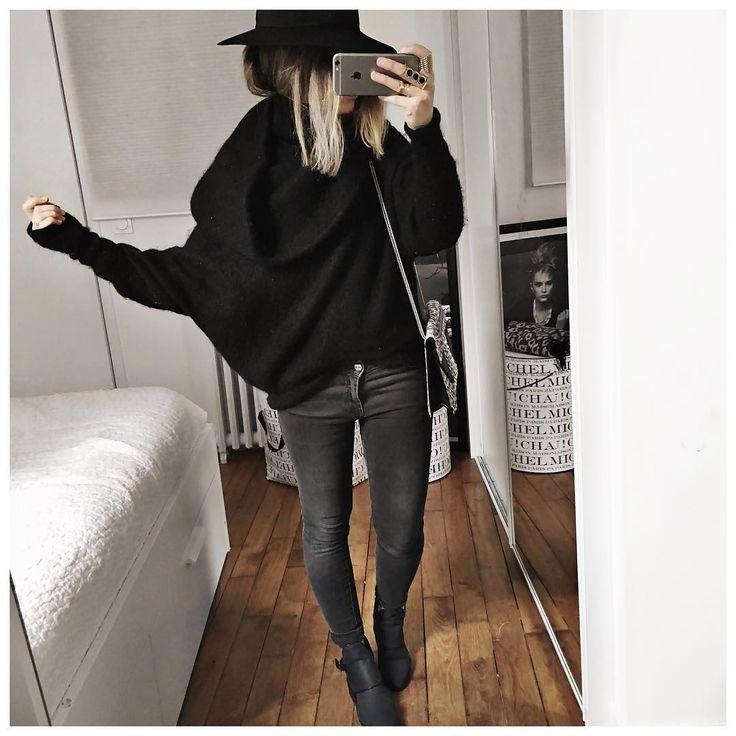 """Gros col! • Hat #maisonmichel (from @lagrandeboutiquelgb) • Knit #acnestudios (from @mushy_poola) • Knit #claudiepierlot (on @claudiepierlot) • Jean…"""