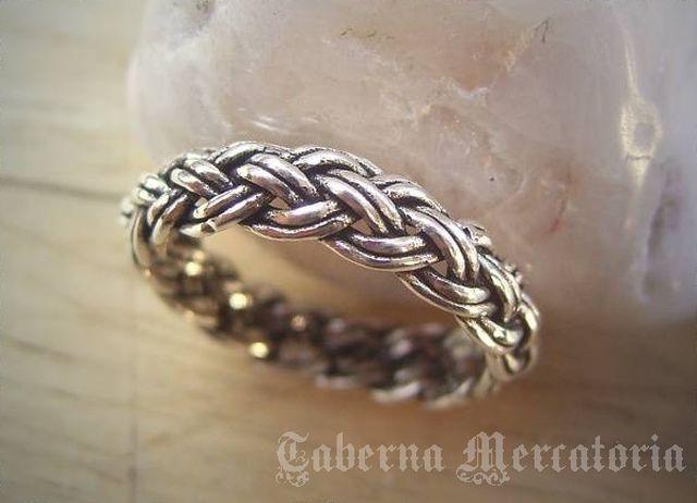Geflochtener Ring aus 925er Silber - Silberring Flechtmuster - Schmuck in Uhren & Schmuck,Folkloreschmuck,Keltischer Schmuck | eBay