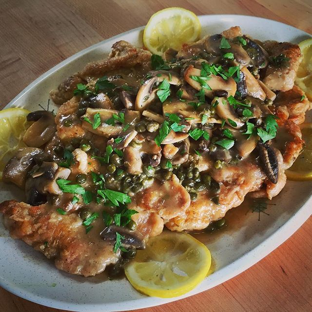 Pin for Later: 6 Quick Chicken-Cooking Tips From Alton Brown You'll Be Glad You Learned Pound chicken breasts super thin and add mushrooms to make chicken piccata even better.