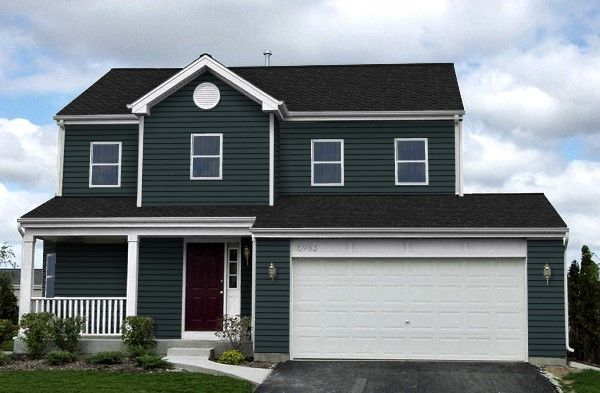 Wedgewood Blue Siding Charcoal Gray Roof White Trim House Exterior Exterior Makeover Blue