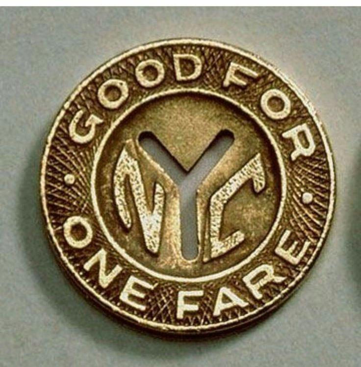 NYC train tokens